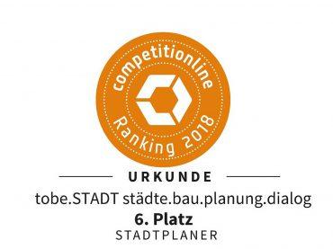 6. Platz im Competitionline-Ranking 2018 für Stadtplaner