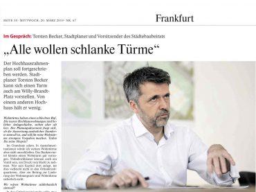 Gespräch mit Torsten Becker in der FAZ Rhein-Main-Zeitung
