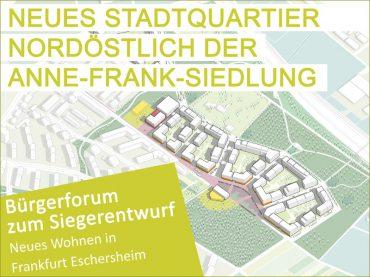 Neues Wohnen in Frankfurt-Eschersheim: Bürgerforum am 08.04.2019